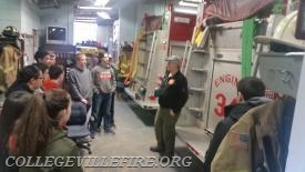 (Rookie) Bruce Craver explaining firefighting and what it takes to operate a Volunteer  Fire Company.