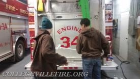 Students Cleaning the apparatus