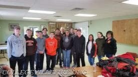 Group shot of the PV students who participated in MLK day of Service.