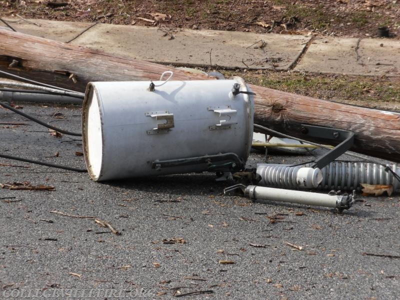 Electrical transformer on the ground, 6th Avenu