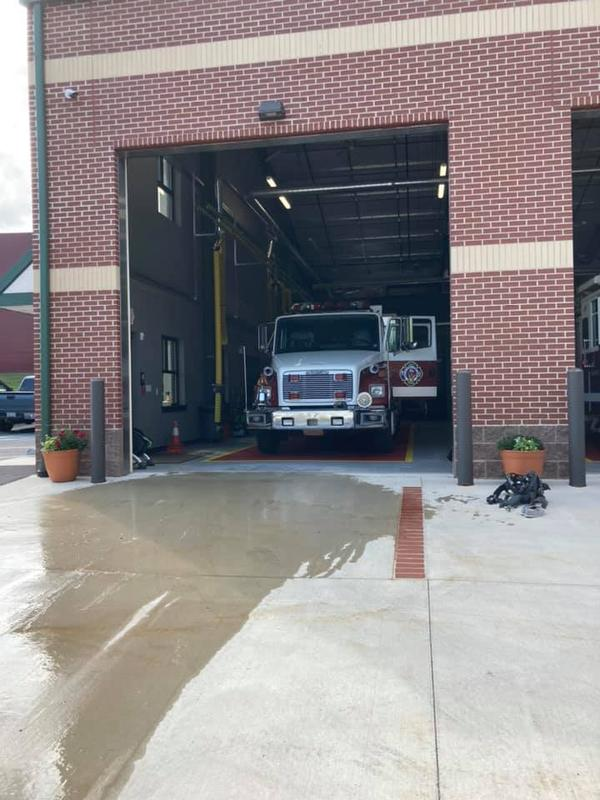 Good Will Steam Fire Engine Company #1 of Pottstown with Squad 69, Standing by at Station 34 Thank you