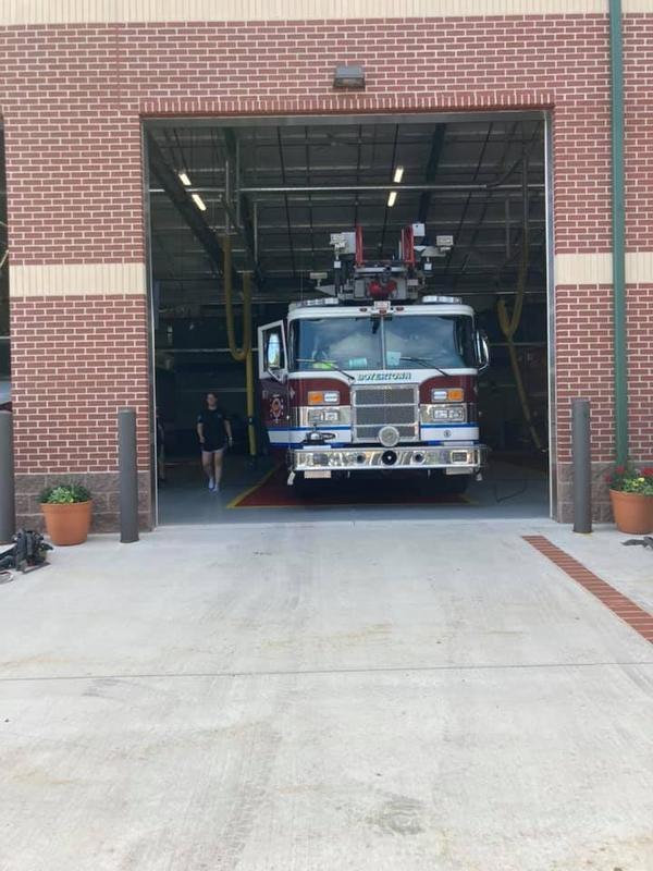 Boyertown Area Fire and Rescue with Ladder 95, Standing by at Station 34 Thank you