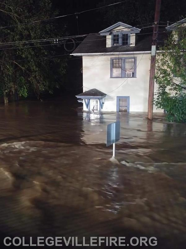 House on 1st Avenue in the Borough, Water Rescue done here.